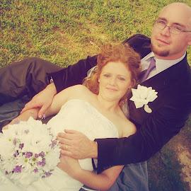 HAPPILY EVER AFTER by Rena Spitzley - Wedding Bride & Groom ( wedding photography, lovers, elegant, wedding, bride and groom,  )