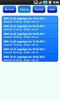 Screenshot of BMI-Calculator Free