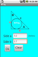 Screenshot of MTrig - Right Triangle Calc.