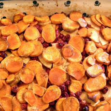 Yams With Apples and Cranberries