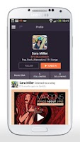 Screenshot of EQuala Social Music Discovery
