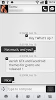 Screenshot of Aerish GTX for GoSMS