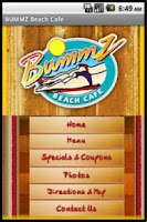 Screenshot of Bummz Beach Cafe