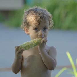 Kid and Cob by Janet Lyle - Babies & Children Children Candids ( children, kids )