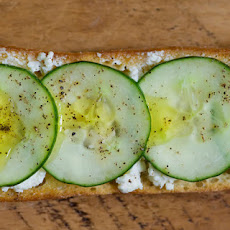 Cucumber Feta Toasts