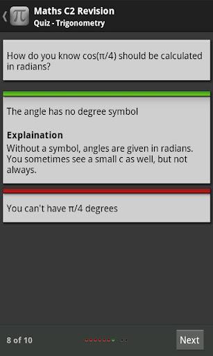 Maths AS C2 Self-Assessment