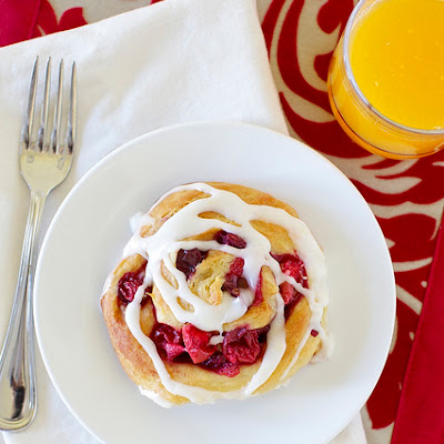 Cranberry Orange Cinnamon Rolls