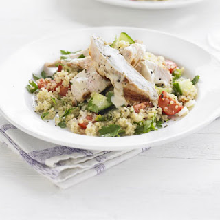 Chargrilled Turkey With Quinoa Tabbouleh & Tahini Dressing