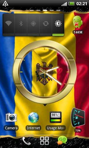 Moldova flag clocks