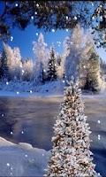 Screenshot of Snowy Snow - Live Wallpaper
