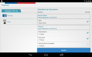 Screenshot of InfoVacunas