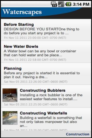 Waterscape Construction