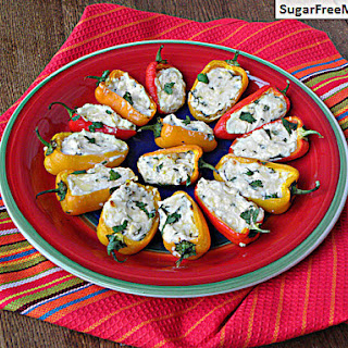 Low Carb Cheesy Sweet Pepper Poppers