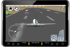 Screenshot of airplane airport land parking