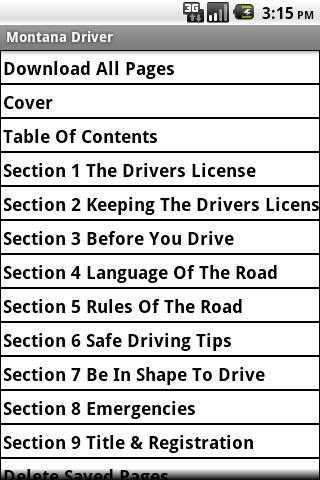 Montana Driver Handbook