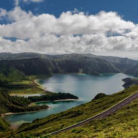 Lagoa do Fogo by Rui Medeiros - Landscapes Mountains & Hills ( hills, mountains, lagoon, nature, landscape,  )
