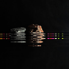 Distant Lights by Prasanta Das - Digital Art Abstract ( picture, lights, bay, distant, digital, across )