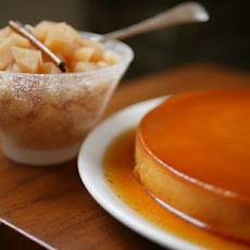 Cream Cheese Flan with Quince Compote