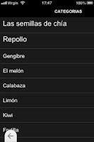Screenshot of Alimentos Quemagrasas