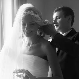 Wedding day by Vitaly Petrishin - Wedding Bride & Groom ( sony, ivano-frankivsk, black and white, bw, a57 )