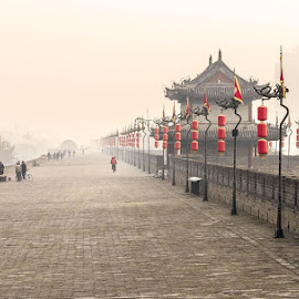 Xian city wall by Jen Thiele - Novices Only Landscapes