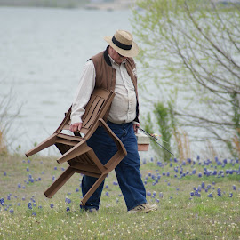 Going Home by Pearl Doyle - People Portraits of Men ( sports, lake, fishing, springtime, man )