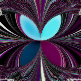 The Butterfly by Yvonne Collins - Digital Art Abstract