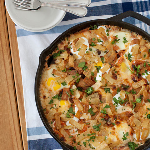Baked Ranchero Eggs with Blistered Pepper Jack Cheese