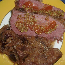 Crock Pot Corned Beef With Sauerkraut and Plums