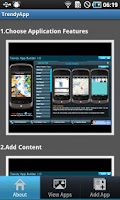 Screenshot of Trendy App