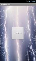 Screenshot of Thunderstorm sound