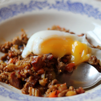 The Perfect Egg and Chilli Chorizo and Pork Sauce