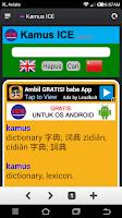 Screenshot of Kamus ICE