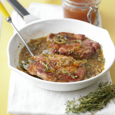 Sticky Thyme & Mustard Bacon Chops