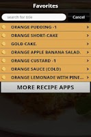 Screenshot of Delicious Orange Recipes