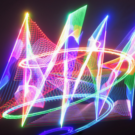 A statement of light ! by Jim Barton - Abstract Patterns ( laser light, colorful, light design, laser design, laser, laser light show, light, science )