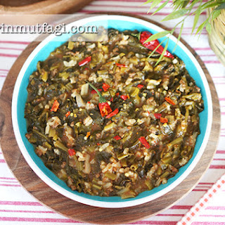 Spinach Stew With Ground Beef