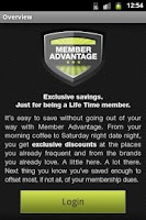 Screenshot of Member Advantage