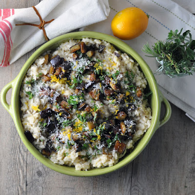 Eggplant and Meyer Lemon Risotto