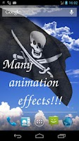 Screenshot of 3D Pirate Flag LWP +