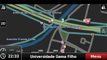 Screenshot of RotaCerta GPS