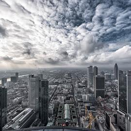 My City by Selman Dogan - City,  Street & Park  Skylines ( clouds, frankfurt, skyscraper, buildings, skylines, cityscape, city )