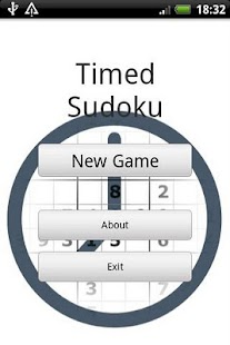 Timed Sudoku - screenshot