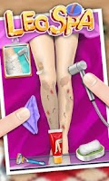 Screenshot of Princess Leg SPA - girl games
