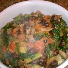 Braised Kale With Black Beans and Tomatoes