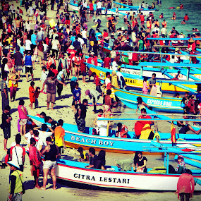 So Crowded by Diadjeng Laraswati H - People Street & Candids ( , water, device, transportation, people, crowd, humanity, society )
