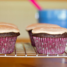 Vegan Whole Wheat Chocolate Cupcakes with Spiced 'Buttercream'