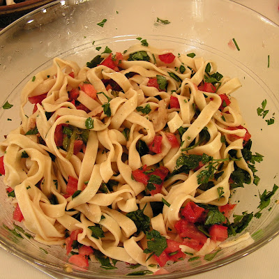 Fresh Tomato and Roasted Poblano Pepper Pasta