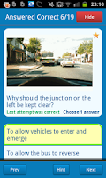 Screenshot of UK Motorcycle Theory Test
