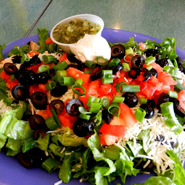 Mexican Lunch by Kathy Rose Willis - Food & Drink Plated Food ( dinner, salad, mexican food, food, mexican, ethnic food, lunch, salsa, tex-mex )